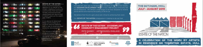Estate of the Nation Leaflet - side 1
