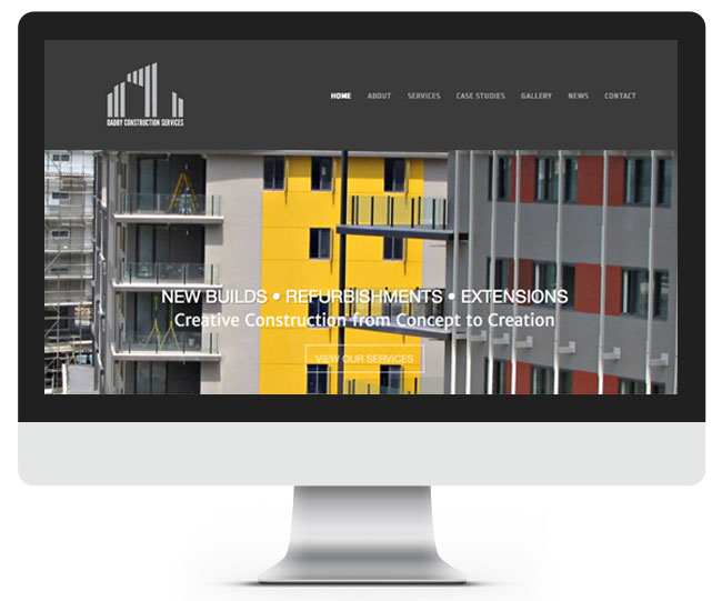Oadby Construction Services website screenshot